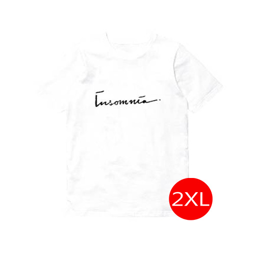 T- Shirt insomnia - INK สีขาว Size 2XL