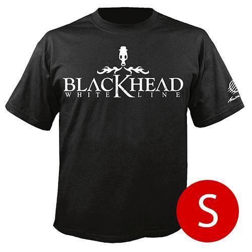 เสื้อยืดคอกลม โลโก้ Blackhead สีดำ size s