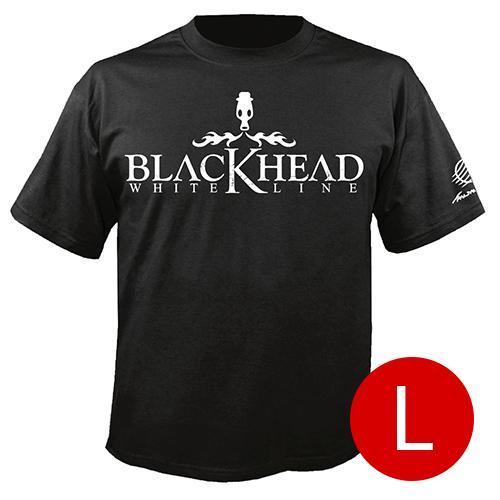 เสื้อยืดคอกลม โลโก้ Blackhead สีดำ size l