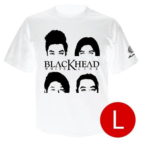 เสื้อยืดคอกลม ศิลปิน Blackhead สีขาว size l