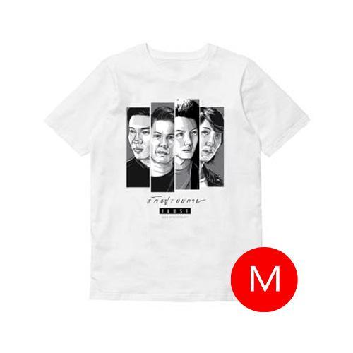 T-shirt รักอยู่รอบกาย PAUSE สีขาว Size M
