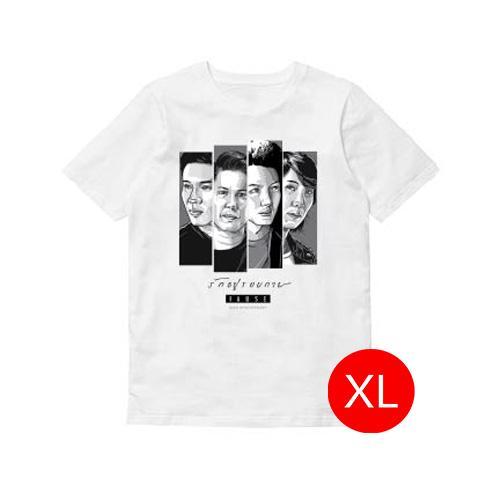 T-shirt รักอยู่รอบกาย PAUSE สีขาว Size XL