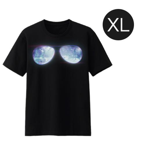เสื้อยืดสีดำ Glasses JDNA X-TREME CONCERT Size XL